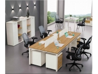 钢木结合桌054
